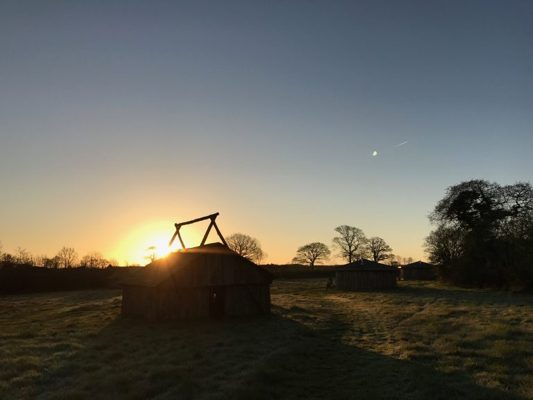 grey willow yurt site sunrise