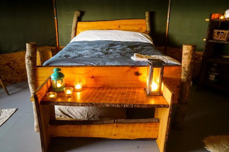 Yurt Glamping in Devon_Interior Bed