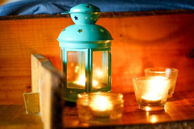 Yurt Glamping in Devon_candle light