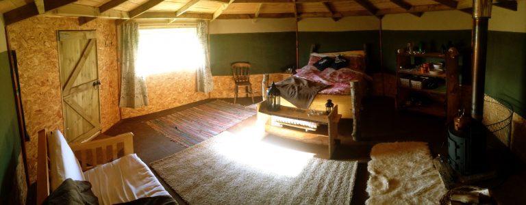 yurt glamping in devon_Yabins pano window