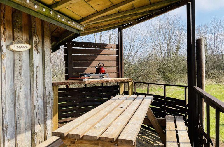 Yurt Glamping in Devon_ Deck
